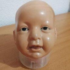 Muñecas Celuloide: ANTIGUA CABEZA CELULOIDE, DE MUÑECA, MUÑECO FRANCES.. Lote 294823683