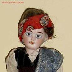Muñecas Composición: MUÑECO CABEZA DE PORCELANA Y CUERPO DE COMPOSICIÓN. Lote 26697459