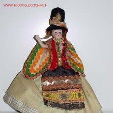 Muñecas Composición: MUÑECA DE CARA Y CUERPO DE PORCELANA VISTE TRAJE REGIONAL . Lote 26305605