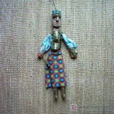 Muñecas Composición: VIEJA MARIONETA EN TELA Y MADERA TALLADA Y PINTADA. 40 CM. . Lote 24085107