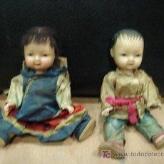 Muñecas Composición: PAREJA DE CHINOS EN PASTA DURA. Lote 42852313