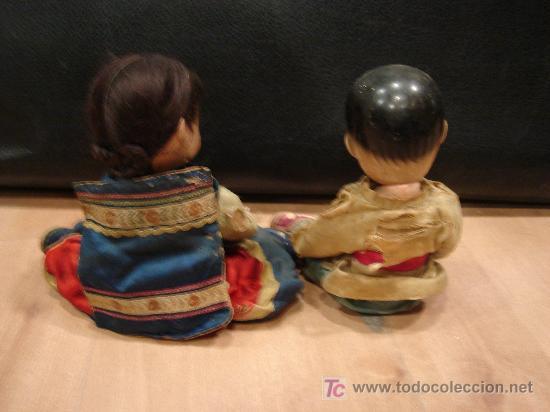 Muñecas Composición: PAREJA DE CHINOS EN PASTA DURA - Foto 2 - 42852313