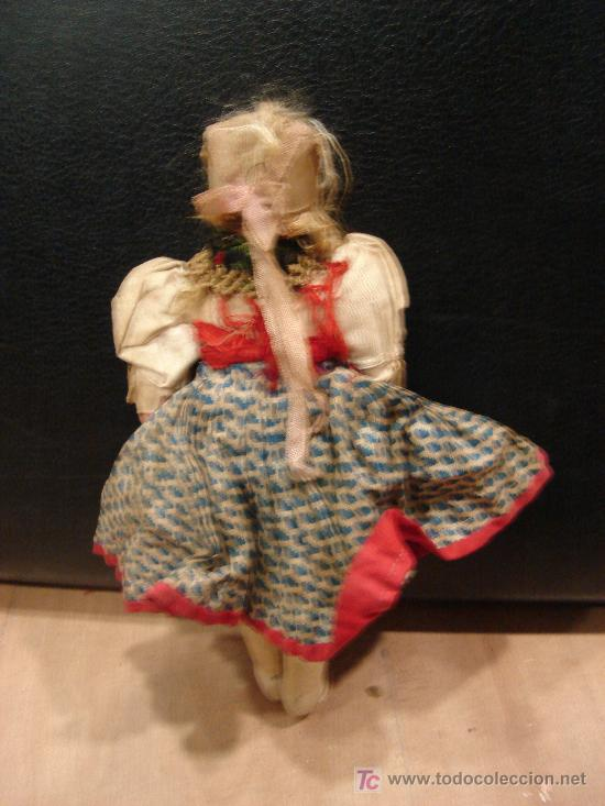 Muñecas Composición: MUÑECA ANTIGUA DE TRAPA CON CABEZA DE PASTA DURA - Foto 2 - 23057750