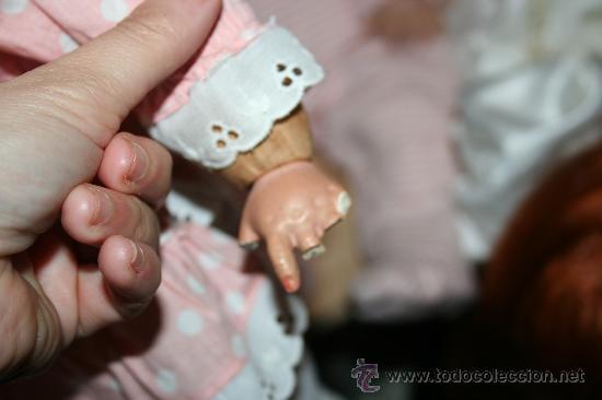 Muñecas Composición: antigua muñeca de composicion o celuloide y trapo se vende sin el sombrero - Foto 5 - 26578433