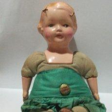 Muñecas Composición: EFFANBEE DE 1912/1913 -COMPOSICIÓN Y CUERPO DE TELA- 2 VESTIDOS ORIGINALES Y PINS!. Lote 26864055
