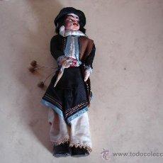 Muñecas Composición: GAUCHO - CUERPO DE BARRO Y CABEZA DE PASTA DE PAPEL - ALTURA: 24.5 CM. APROX.. Lote 28765619