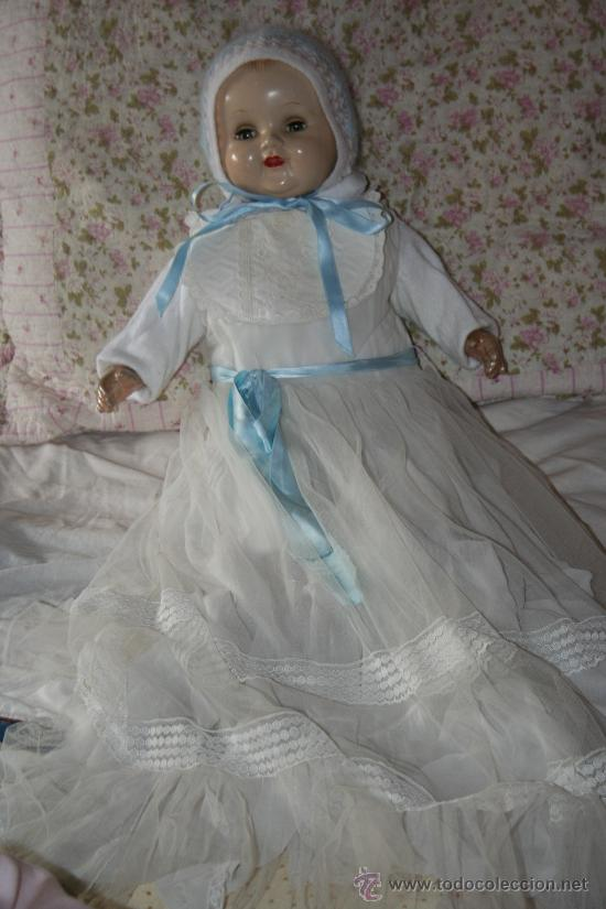 Muñecas Composición: antigua muñeca ideal doll o muñeco bebe con faldon americano - Foto 10 - 34779714