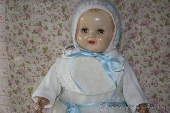 Muñecas Composición: antigua muñeca ideal doll o muñeco bebe con faldon americano - Foto 2 - 34779714