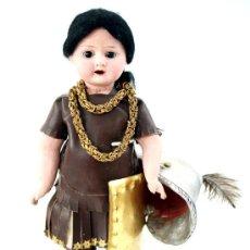 Muñecas Composición: MUÑECA FRANCESA DE COMPOSICIÓN - ROPA ORIGINAL DE SOLDADO ROMANO- AÑOS 1900. Lote 36220116