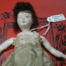 Muñecas Composición: ANTIGUA MUÑECA ALEMANA FABRICADA EN PAPEL MACHÉ - ORIGINAL DEL SIGLO XIX -. Lote 38012812