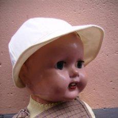 Muñecas Composición: MUÑECO DE GRAN TAMAÑO, IDL MADE IN ENGLAND, HACIA 1940 50.. Lote 43862581