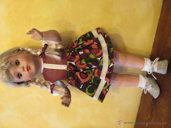 Muñecas Composición: Antigua muñeca alemana Sonneberg celuloide y composicion 53 cms - Foto 2 - 45041621