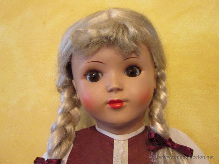 Muñecas Composición: Antigua muñeca alemana Sonneberg celuloide y composicion 53 cms - Foto 3 - 45041621