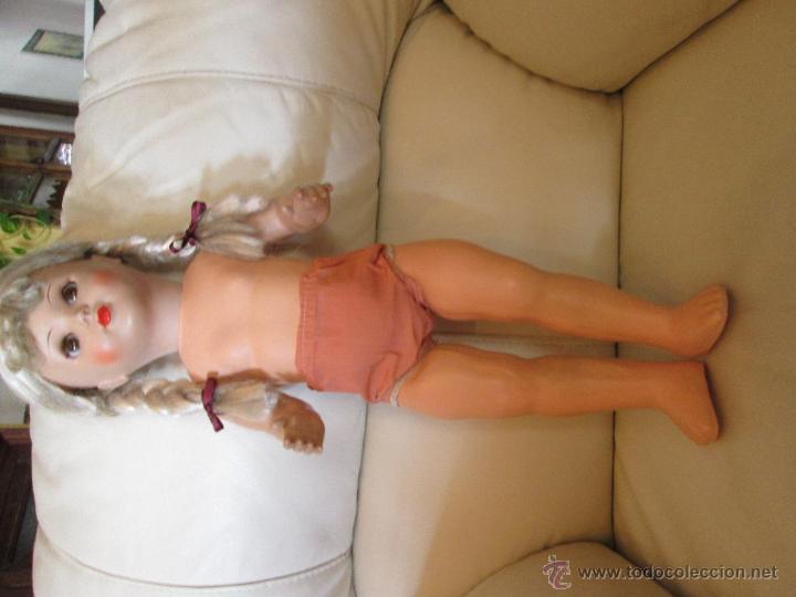 Muñecas Composición: Antigua muñeca alemana Sonneberg celuloide y composicion 53 cms - Foto 7 - 45041621