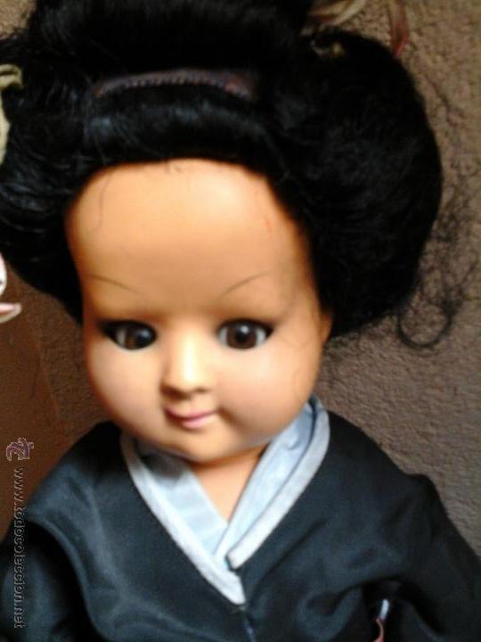 Muñecas Composición: Muñeca japonesa antigua - Foto 2 - 48003154