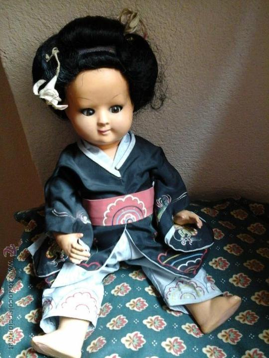 Muñecas Composición: Muñeca japonesa antigua - Foto 4 - 48003154