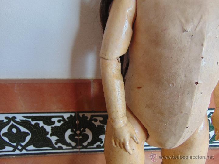 Muñecas Composición: ANTIGUA MUÑECA EN CARTON PIEDRA COMPOSICION Y MADERA PARA RESTAURAR MARCADA PARIS Y INICIALES - Foto 3 - 52482749