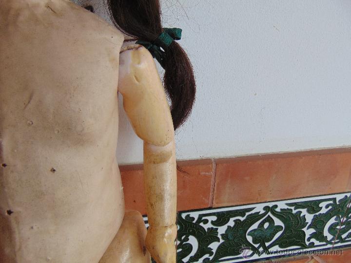 Muñecas Composición: ANTIGUA MUÑECA EN CARTON PIEDRA COMPOSICION Y MADERA PARA RESTAURAR MARCADA PARIS Y INICIALES - Foto 4 - 52482749