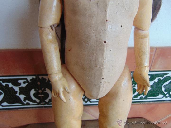 Muñecas Composición: ANTIGUA MUÑECA EN CARTON PIEDRA COMPOSICION Y MADERA PARA RESTAURAR MARCADA PARIS Y INICIALES - Foto 5 - 52482749