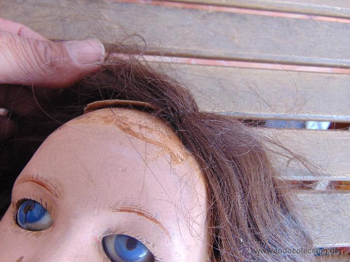 Muñecas Composición: ANTIGUA MUÑECA EN CARTON PIEDRA COMPOSICION Y MADERA PARA RESTAURAR MARCADA PARIS Y INICIALES - Foto 7 - 52482749