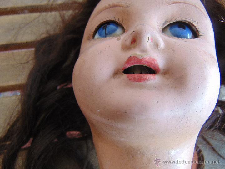 Muñecas Composición: ANTIGUA MUÑECA EN CARTON PIEDRA COMPOSICION Y MADERA PARA RESTAURAR MARCADA PARIS Y INICIALES - Foto 9 - 52482749