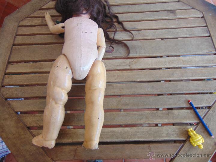 Muñecas Composición: ANTIGUA MUÑECA EN CARTON PIEDRA COMPOSICION Y MADERA PARA RESTAURAR MARCADA PARIS Y INICIALES - Foto 12 - 52482749