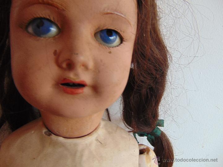 Muñecas Composición: ANTIGUA MUÑECA EN CARTON PIEDRA COMPOSICION Y MADERA PARA RESTAURAR MARCADA PARIS Y INICIALES - Foto 17 - 52482749