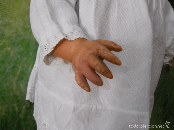 Muñecas Composición: Antigua muñeca de cartón piedra (73 cm). - Foto 12 - 173652072