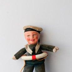 Muñecas Composición: MUÑECO ALEMÁN DE TRAPO Y CARTÓN PIEDRA VESTIDO DE MARINERITO. Lote 56966864
