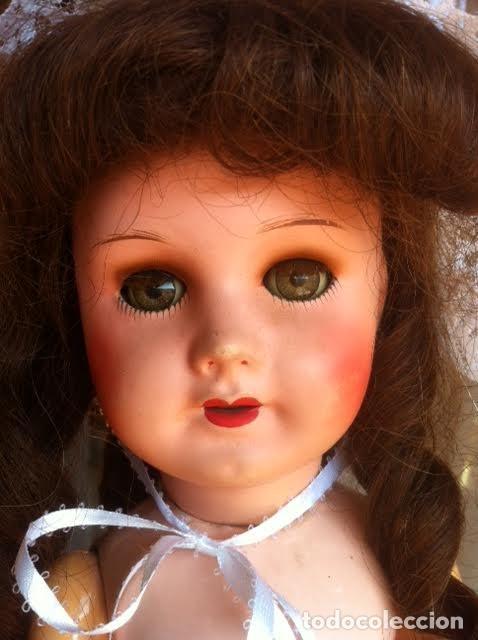 Muñecas Composición: Preciosa muñeca francesa marcada Unis France modelo 301 - 8 molde SFBJ 50cm Buen estado - Foto 2 - 65246503