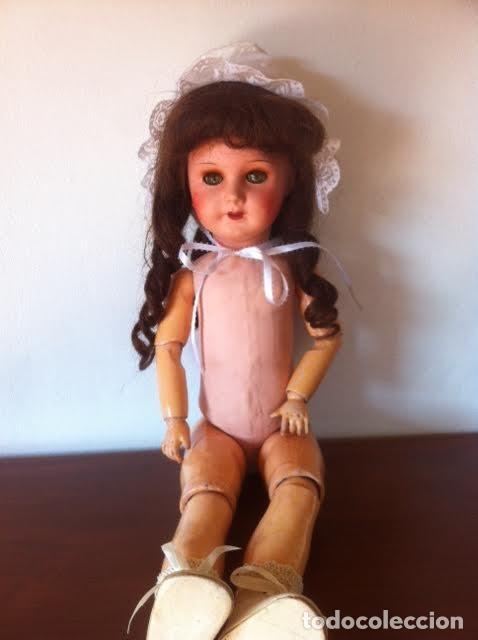 Muñecas Composición: Preciosa muñeca francesa marcada Unis France modelo 301 - 8 molde SFBJ 50cm Buen estado - Foto 4 - 65246503