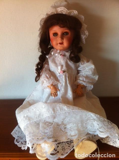 Muñecas Composición: Preciosa muñeca francesa marcada Unis France modelo 301 - 8 molde SFBJ 50cm Buen estado - Foto 5 - 65246503