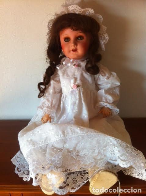 Muñecas Composición: Preciosa muñeca francesa marcada Unis France modelo 301 - 8 molde SFBJ 50cm Buen estado - Foto 6 - 65246503