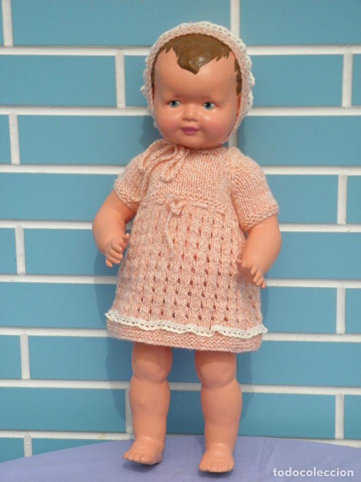 Muñecas Composición: Muñeca bebé inglesa antigua años 50 de 48 cm - Foto 2 - 82123808