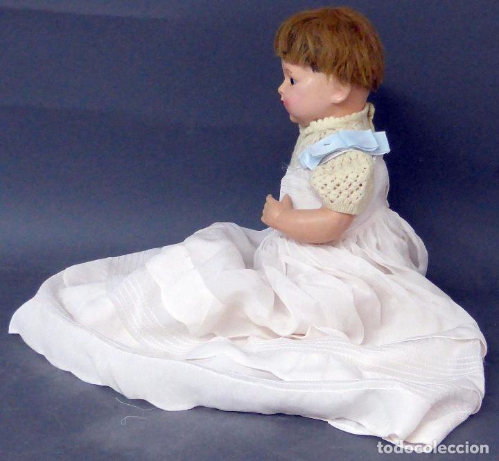 Muñecas Composición: Bebé alemán composición marca nuca Made in Germany ojo fijo años 20 34 cm - Foto 6 - 98136503