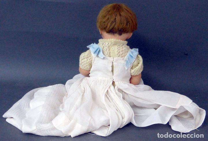 Muñecas Composición: Bebé alemán composición marca nuca Made in Germany ojo fijo años 20 34 cm - Foto 7 - 98136503