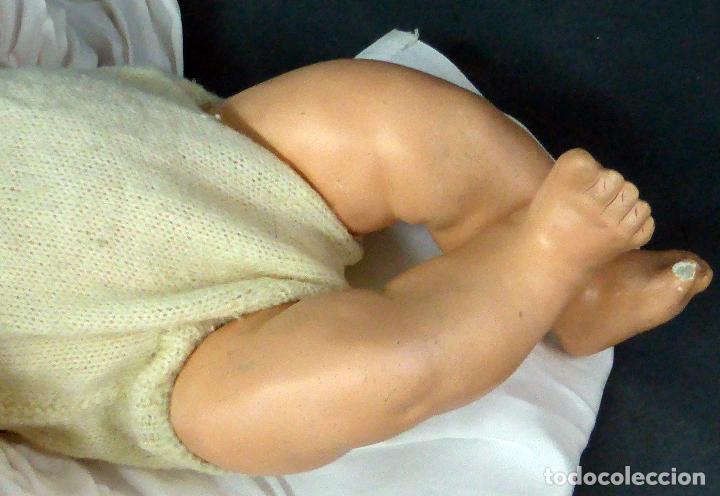 Muñecas Composición: Bebé alemán composición marca nuca Made in Germany ojo fijo años 20 34 cm - Foto 8 - 98136503