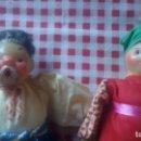 Muñecas Composición: PRECIOSA PAREJA DE MUÑECAS DE COMPOSICIÓN,PLÁSTICO Y TEJIDO.. Lote 105189271