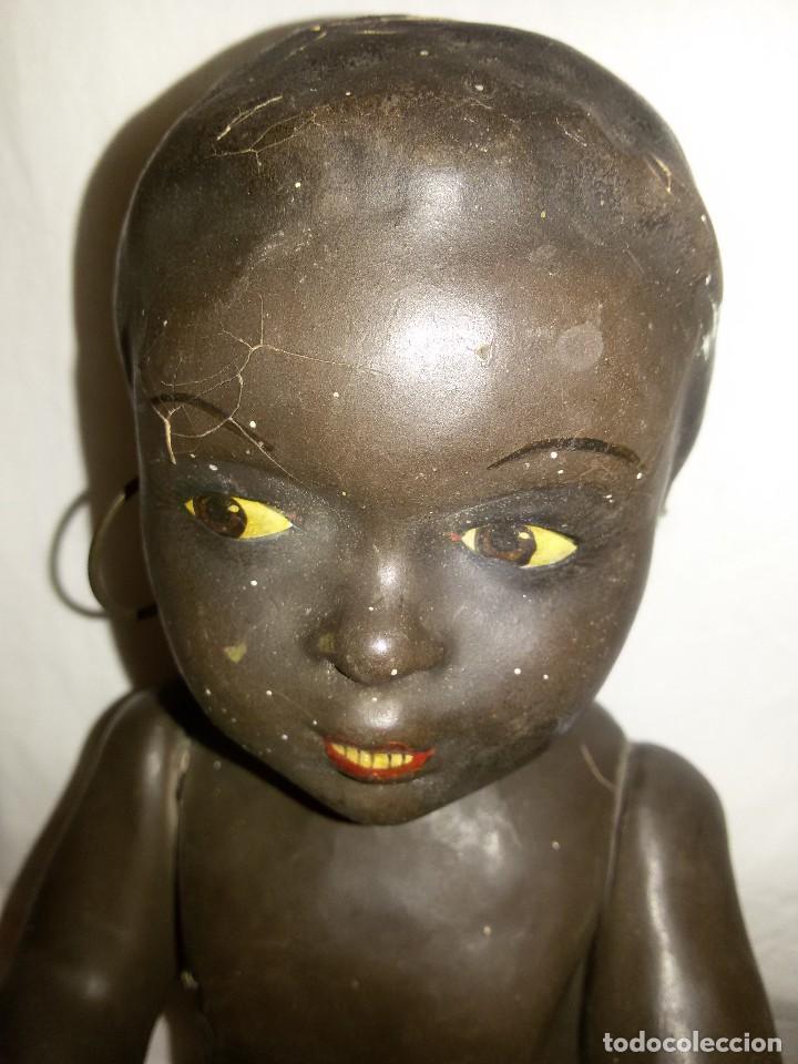 Muñecas Composición: ANTIGUO MUÑECO NEGRO - CARTÓN PIEDRA - AÑOS 30 - Foto 8 - 118101035