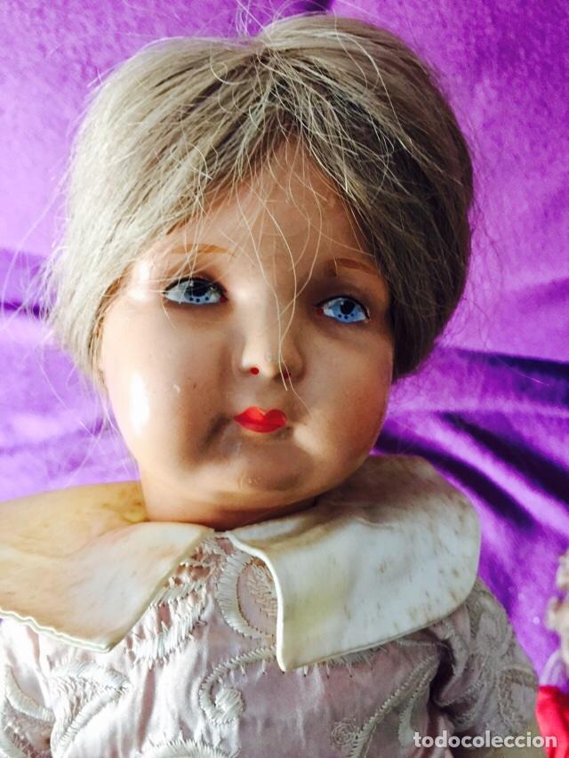 Muñecas Composición: Lote de 2 muñecas antiguas - Foto 2 - 121505138