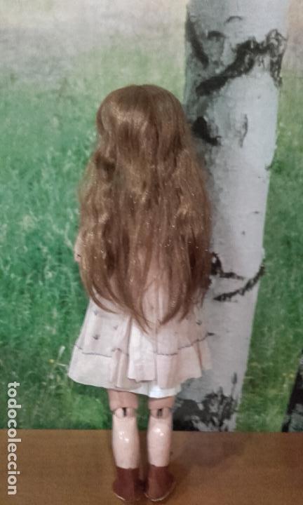 Muñecas Composición: Antigua muñeca de 49 cm, marcada (301 SFBJ PARIS N% 7) años 20 - Foto 2 - 87562600