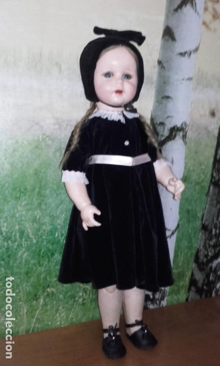 Muñecas Composición: Antigua muñeca andadora de cartón piedra (71 cm) - Foto 3 - 127223635