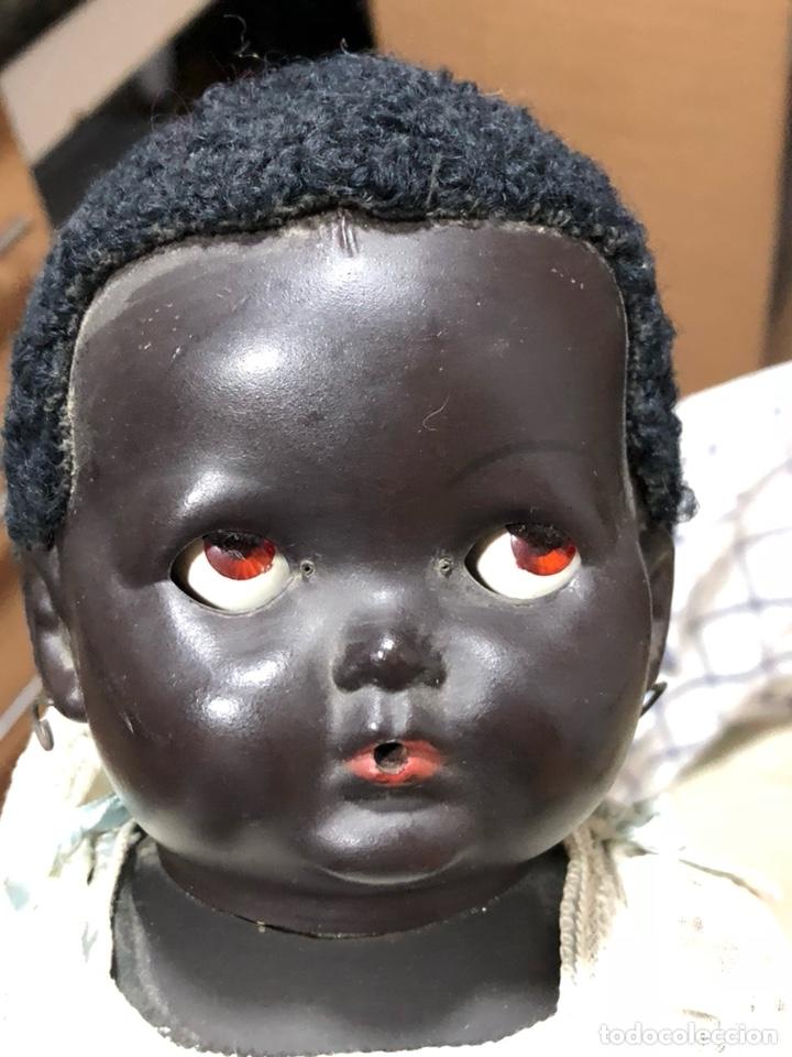 Muñecas Composición: Raro muñeco-bebe negro años 30-40, inglés - Foto 2 - 139366170