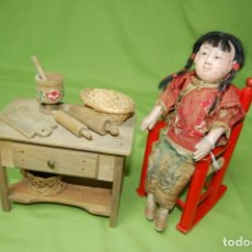Muñecas Composición: MUÑECO JAPONÉS CON ACCESORIOS. Lote 154011946