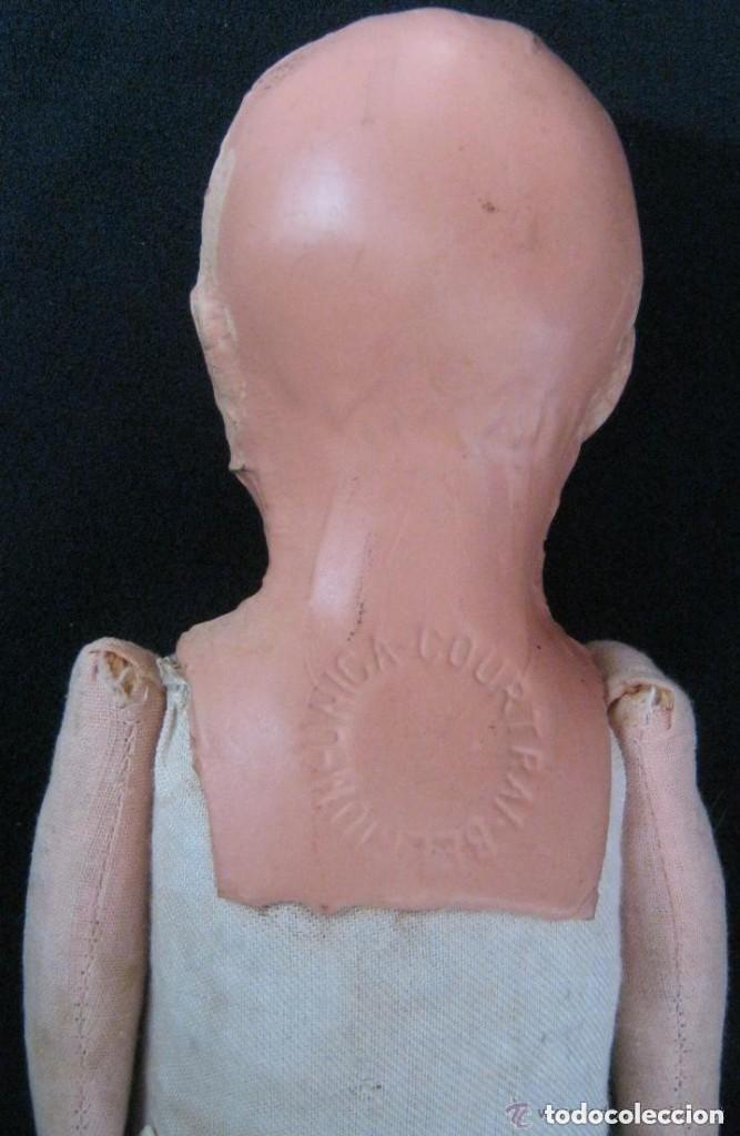 Muñecas Composición: ANTIGUA MUÑECA CABEZA DE COMPOSICIÓN Y CUERPO DE TRAPO COURTRAI PPIO.S.XX - Foto 2 - 157864614