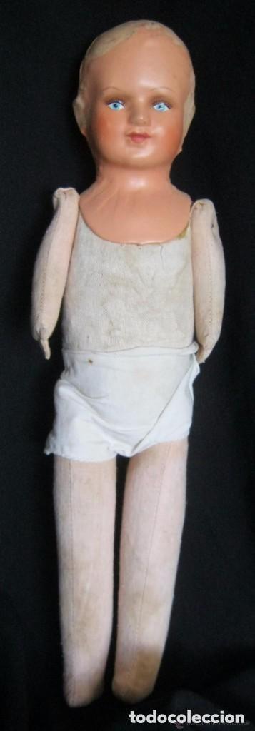 Muñecas Composición: ANTIGUA MUÑECA CABEZA DE COMPOSICIÓN Y CUERPO DE TRAPO COURTRAI PPIO.S.XX - Foto 5 - 157864614