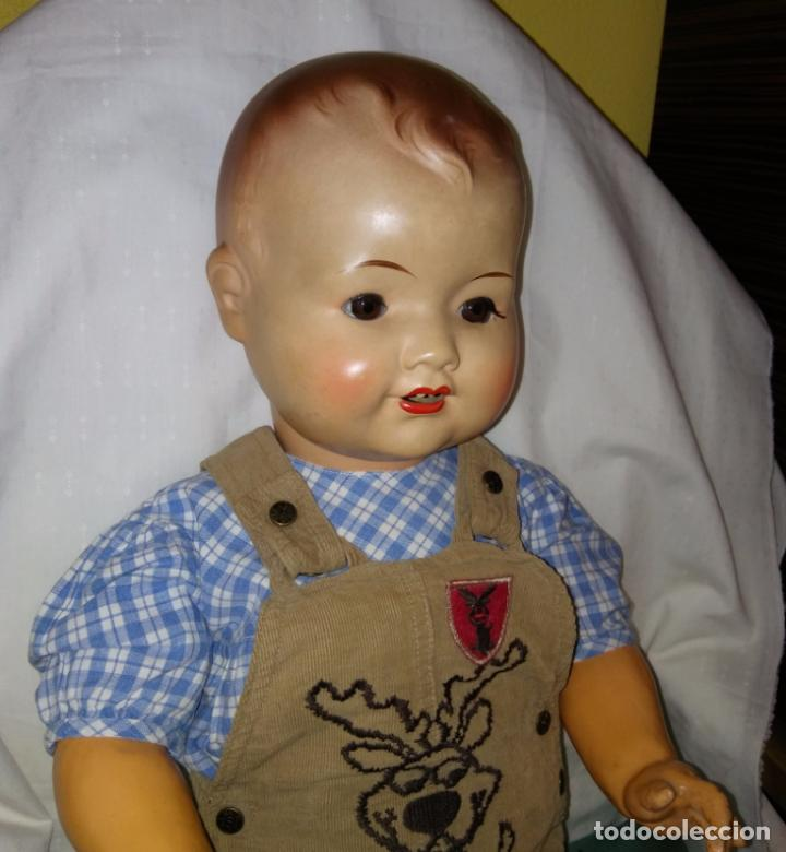 Muñecas Composición: Antigua muñeca alemana, antiguo muñeco 65 cmtrs. Composición. - Foto 2 - 166382813