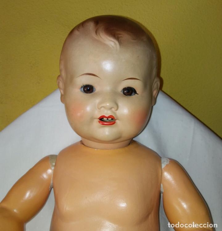 Muñecas Composición: Antigua muñeca alemana, antiguo muñeco 65 cmtrs. Composición. - Foto 6 - 166382813