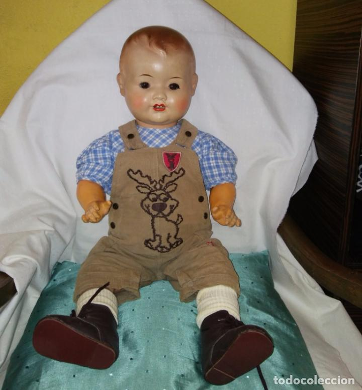 Muñecas Composición: Antigua muñeca alemana, antiguo muñeco 65 cmtrs. Composición. - Foto 9 - 166382813