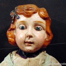 Muñecas Composición: ANTIGUA Y GRAN MUÑECA , CARTON, 90 CM , VER ADICIONALES. Lote 183732016